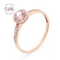 SKM Morganite Rings for women rings Vintage Engagement rings designer Anniversary Fine Jewelry