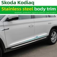цена на Stainless steel body trim Car stainless steel trim strip  Car door modification For Skoda Kodiaq 2017-2020