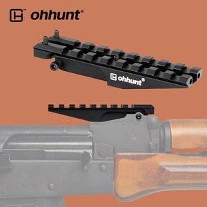 Ohhunt AK dikiz ray dağı 100mm Picatinny Weaver 20mm kapsam sabitleme kaidesi avcılık kırmızı için Dot optik AK47 AK74 adaptörü