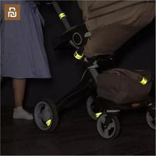 Youpin miaomiaoce 3 m fluorescente noite reflexiva faixa de pulso um segundo rápido vestindo automático flexível scotchlite luz cinta