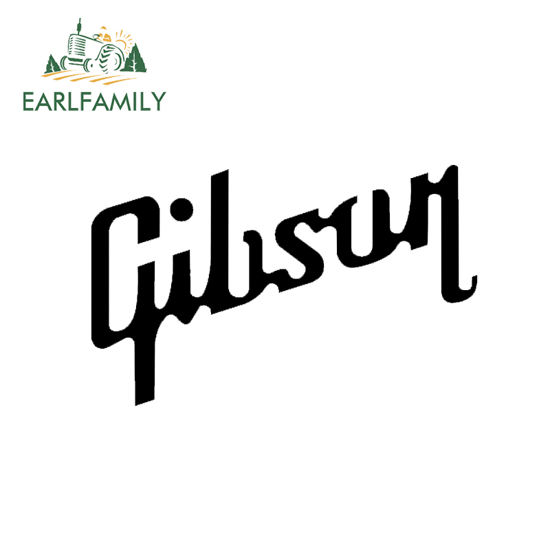 EARLFAMILY 13cm Gibson Usa Guitar Vinyl Decal Sticker Les Paul For Car Laptop Guitar Case Funny Car Styling Graphics