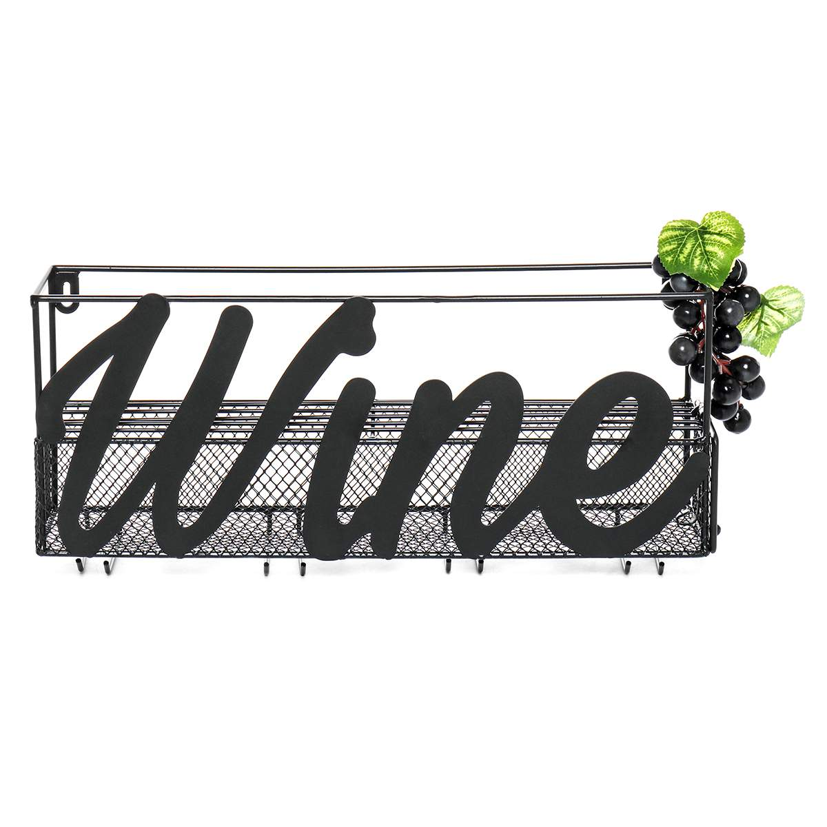 Closeout DealsChampagne-Shelf Bottle Wine-Rack Wine-Glass-Holders Wall-Mounted Extra-Cork-Tray Metal