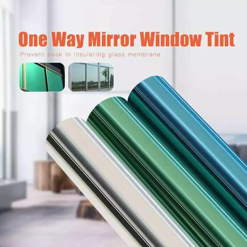 Односторонняя зеркальная оконная пленка, 50 см х 300 см, статическая антиклейкая декоративная термостойкая антиуф-оттенка для дома