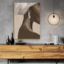 Cuadros de mujer de Arte Negro moderno lienzo pintura de pared vintage decoración del hogar lienzo carteles decoración salón lienzo impresiones sin marco
