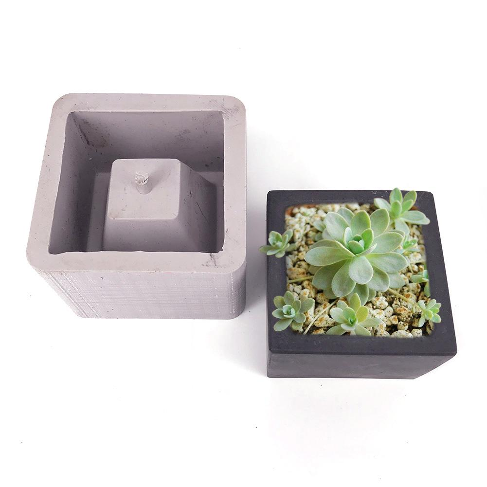 Square Ceramic Clay Pots Mold Concrete Planter Silicone Mould For Home Decor Desktop Crafts Handmade Creative Flower Pot Molds
