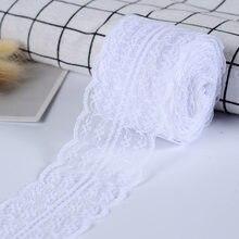 Ruban en dentelle pour couture de vêtements, 10/4.5cm, pour bricolage, blanc, noir, bleu, rose, violet, rouge, emballage cadeau