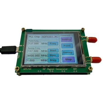ADF4351 RF Signal Source Generator Wave Point Frequency Sweep Contact Screen LCD adf4350 adf4351 pll pll rf signal source frequency synthesizer