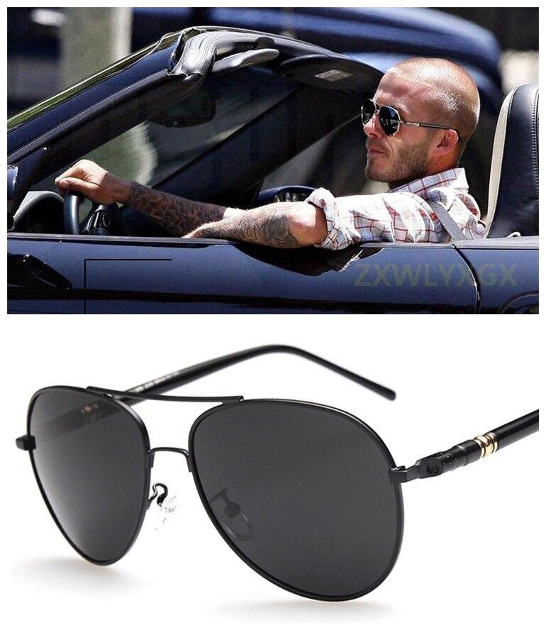 Quality Metal Frame Oversized Spring Leg Alloy Polarized Sunglasses Men Brand Designer Pilot Male Sun Glasses Driving