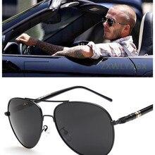 Quality Metal Frame Oversized Spring Leg Alloy Polarized Sunglasses Men