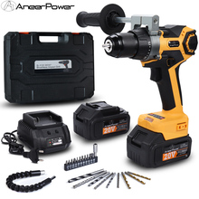 Screwdriver Impact-Drill Electric 20v Cordless Brushless Lithium-Battery High-Power 13MM