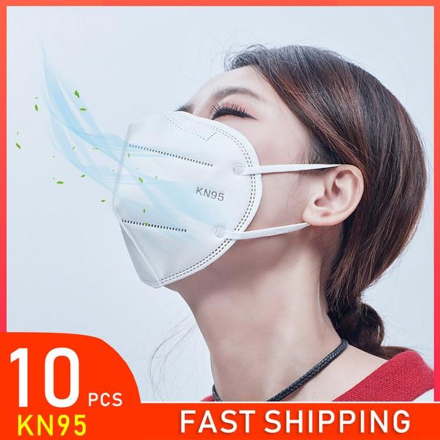 KN95 Face Mask Disposable Laye Mask Meltblown Cloth Masks Mascarilla Prevent Flu ffp3 masque Mouth Breathing Mask 95% Filtration