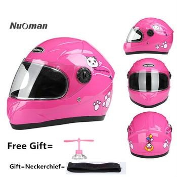 Nuoman Motorcycle Sports Craniacea Cycling Kids Helmet Children Full Face Helmet For Multi Pattern Anti-Vibration Riding