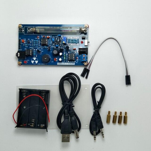 Ücretsiz kargo DIY Geiger sayacı modülü monte DIY Geiger sayacı kiti Miller tüp GM tüp nükleer radyasyon dedektörü radyasyon