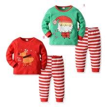 Алиэкспресс Лидер продаж детская одежда продукт Рождество детский костюм детский домашний костюм мультфильм набор осень