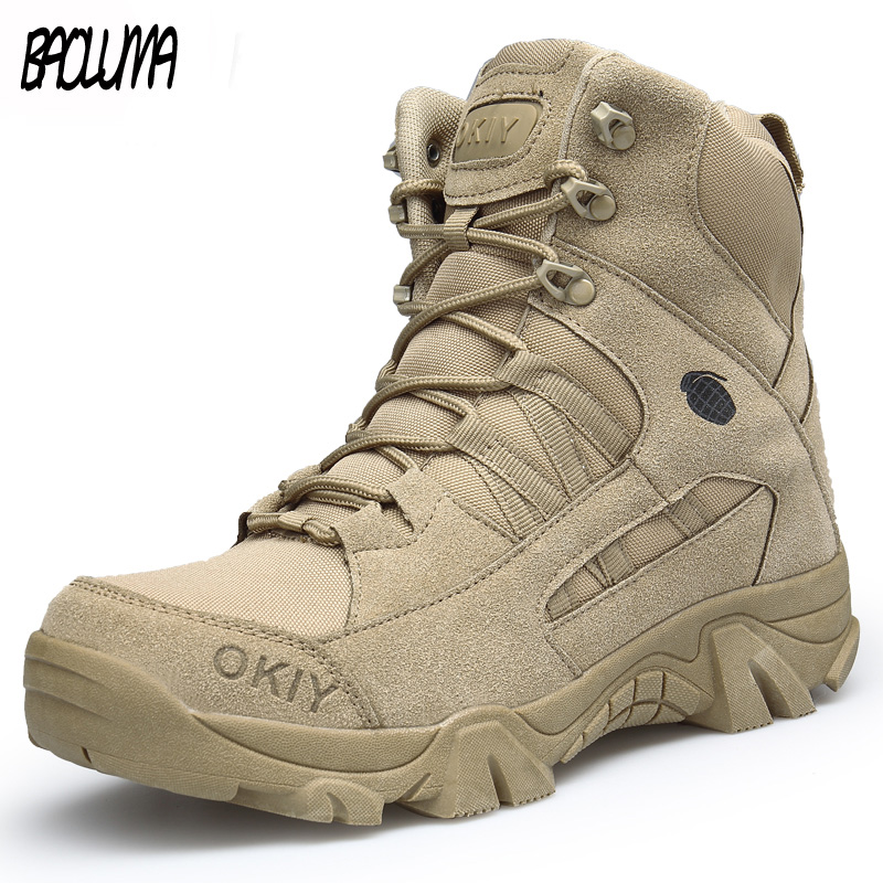 Brand Winter Boots Warm Men Snow Boots High Quality Cow Suede Outdoor Man Work Shoes Non-slip Waterproof Men Ankle Boots 39-46