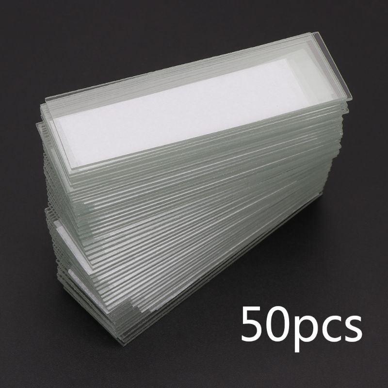 50Pcs 1mm Thickness Cavity Glass Coverslips Single Concave Microscope Glass Slides Reusable Laboratory Blank Sample Cover Glass