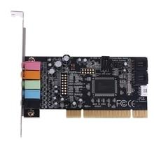 Klassieke Pci Geluidskaart 5.1CH CMI8738 Chipset Audio Digitale Desktop Pci Express Kaarten 5.1 Kanaals