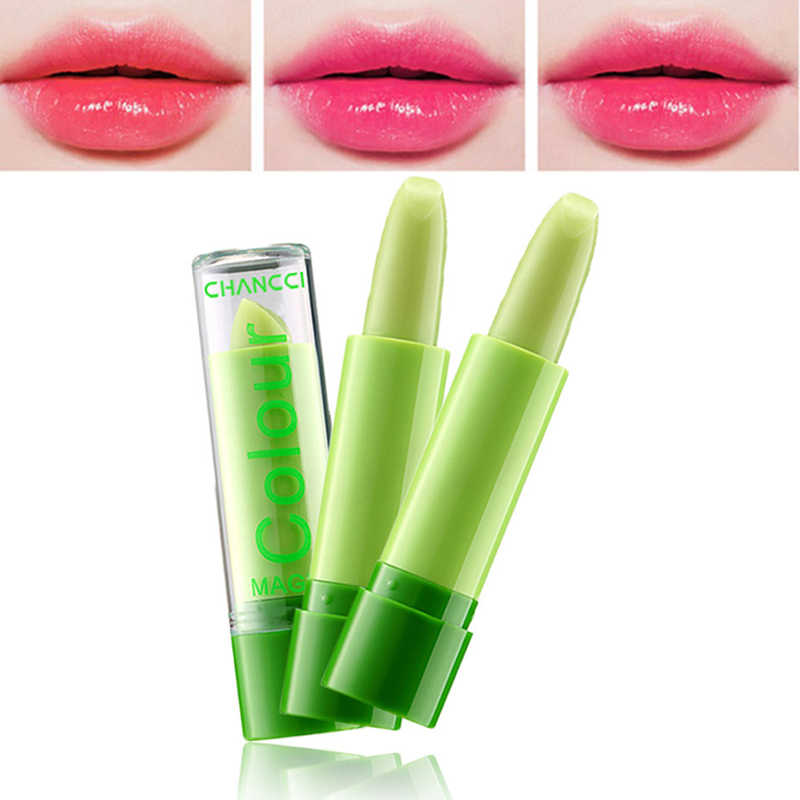1 PC Musim Dingin Kelembaban Meleleh Lip Balm Tahan Lama Berubah Warna Lipstik Lidah Buaya Antilengket Piala Balm Anti Aging Makeup bibir Perawatan Kecantikan
