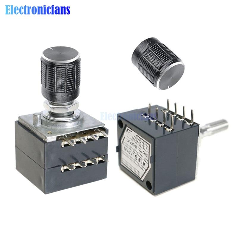 1Pcs potentiometer 50K log alps audio amp volume control pot stereo w loudnes OI