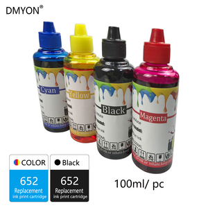 Image 2 - DMYON 652 Replacement for HP 652 XL Refillable Ink Cartridges for DeskJet 1115 1118 2135 2138 3635 3636 3835 4535 4675 Printer