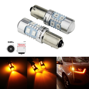 ANGRONG 2x HY21W BAW9s, luz LED ámbar, bombilla de luz intermitente Revese para Citroen C4 Grand Picasso