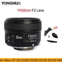 Объектив YONGNUO YN 35 мм F2.0, широкоугольный объектив с большой апертурой и автофокусом для Nikon F Mount D3200 D3400 D3100 для DLSR-камеры Canon