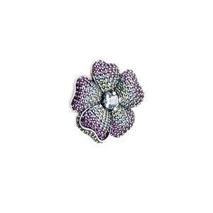 Женская брошь-цветок Glory Bloom, многоцветный Цирконий, Ювелирное Украшение из стерлингового серебра 925 пробы, украшение для самостоятельного и...