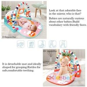 Image 5 - תינוק שטיח תינוק חדר כושר פעילות Playmat מוסיקלי פסנתר רעשנים צעצועי 0 12 חודשים פעוטות זחילה למידה מוקדמת פאזל מחצלת צעצועים