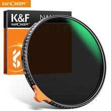 K & F Concept HD ND2 ~ ND400 카메라 렌즈 필터 (오렌지 퍼터 필터 페이더 포함) 가변 조절 가능 중립 밀도 49mm