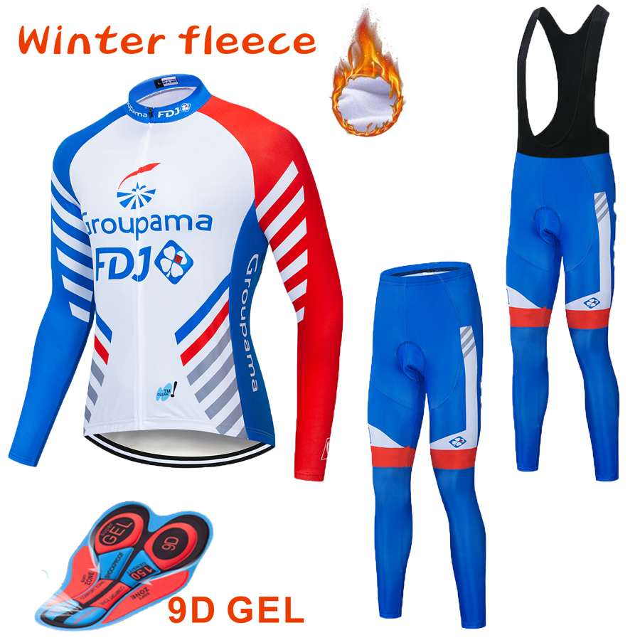 Ropa térmica de Ciclismo de invierno, Conjunto de Jersey de Ciclismo de manga larga para hombre, Ropa de Ciclismo MTB, Ropa de Ciclismo|Conjuntos de ciclismo|   - AliExpress