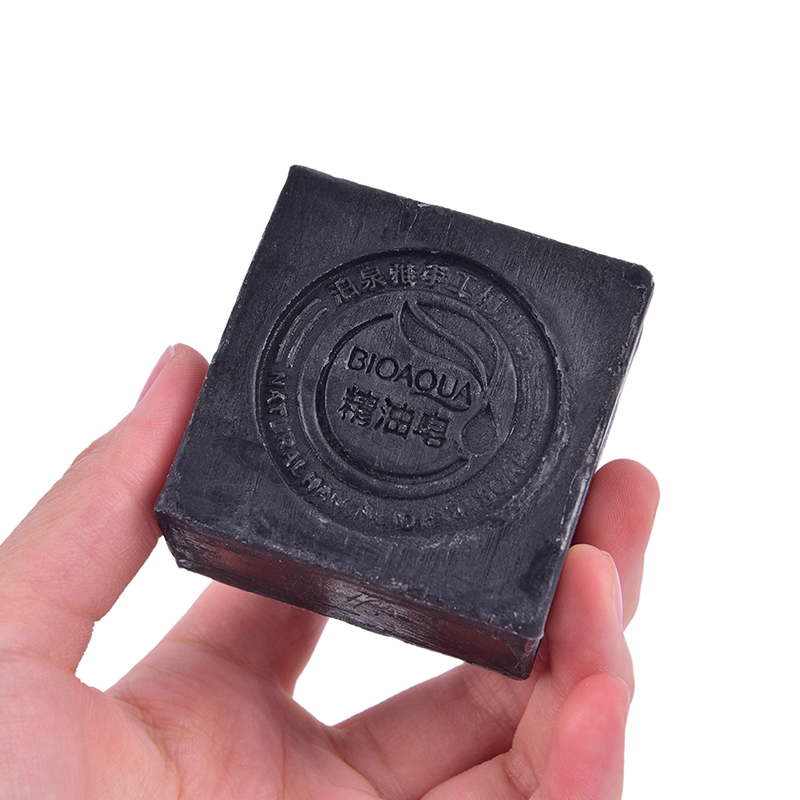 Black Bamboo Charcoal Soap Treatment Skin Care Face Body Clear Whitening Soap Skin Care