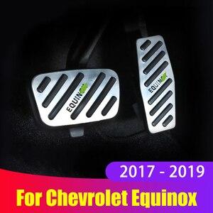 Алюминиевый сплав автомобильный акселератор педаль газа педаль тормоза Нескользящая Накладка для Chevrolet Equinox 2017 2018 2019 аксессуары