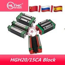 4pc HGH20CA HGH15CAリニア狭いcarrigesスライド使用hiwin HGR20/15 用リニアガイドリニアレールcnc diyパーツ