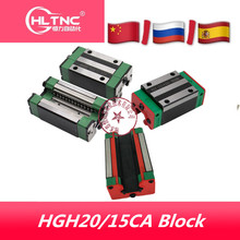 HIWIN guía lineal para carril lineal, HGH20CA, HGH15CA, 4 unidades, HGR20/15, para piezas de bricolaje, CNC