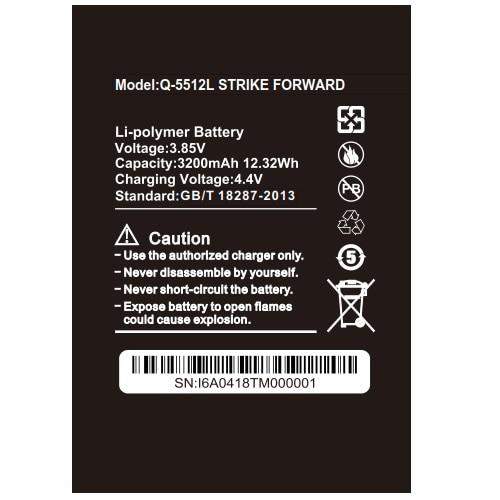 SZWESTTOP bateria 3200mAh original Para BQ BQ-5512L GREVE PARA A FRENTE Batterie para BQ-5512L inteligente telefone celular