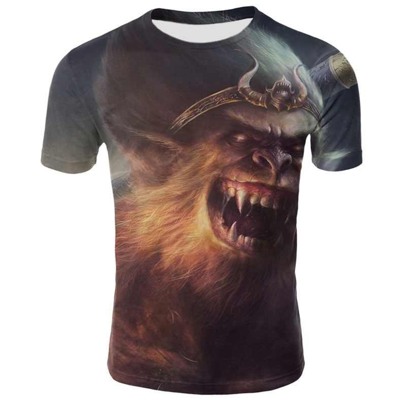 PLAYBOY เสื้อยืดความงามผู้ชายเสื้อยืดฤดูร้อนผู้ชายแขนสั้น 3D พิมพ์ Orangutan เสื้อยืดสำหรับ Boy Tops และ