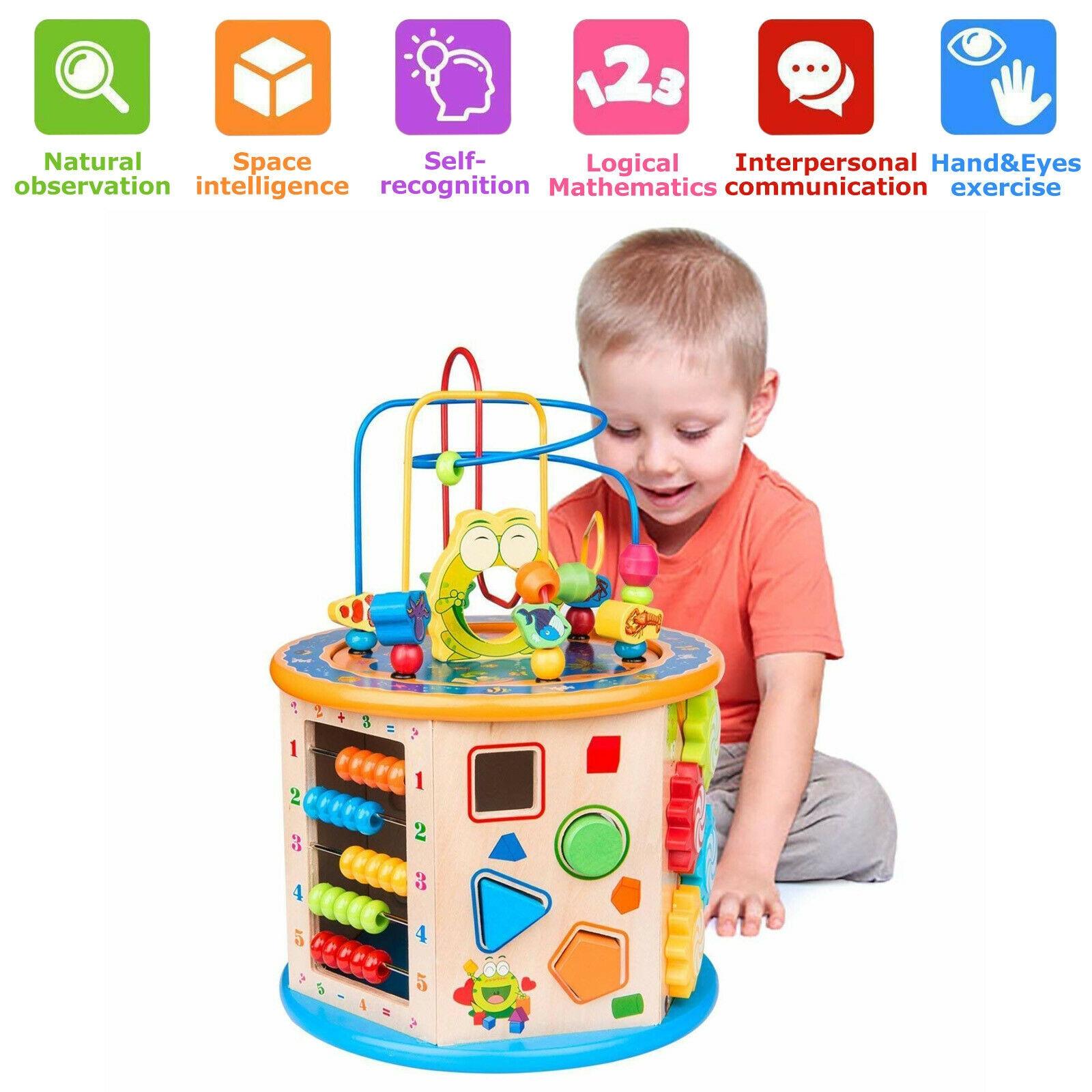 Montessori Houten Speelgoed Houten Cirkels Kraal Draad Doolhof Achtbaan Educatief Houten Puzzels Kid Speelgoed