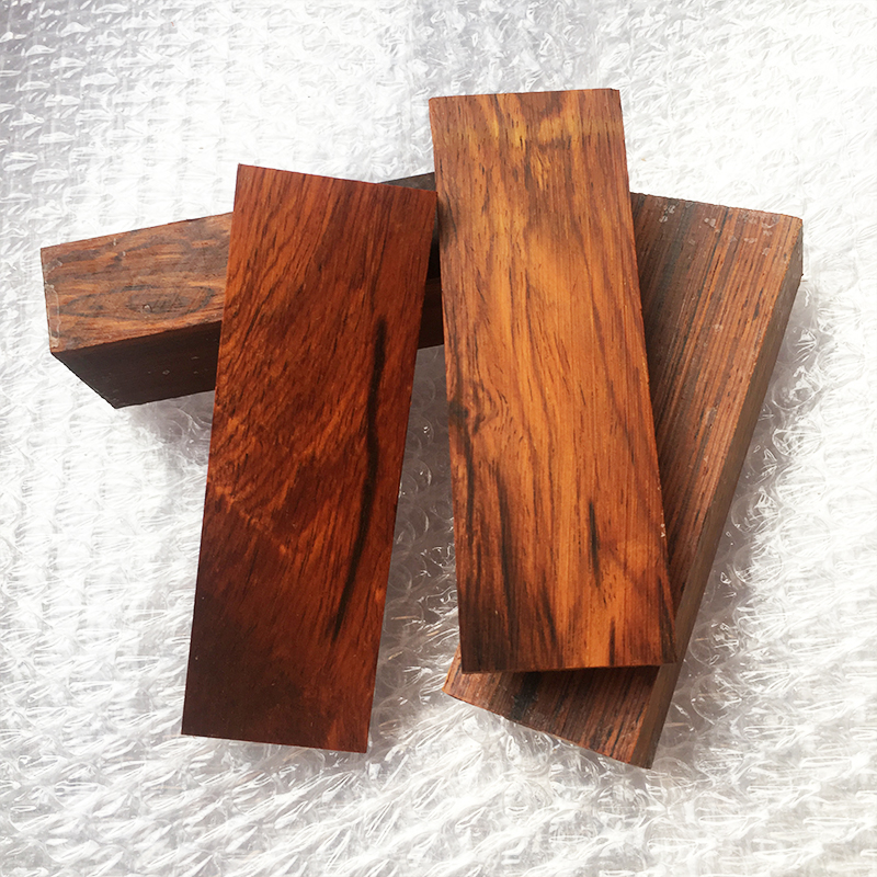 2pieces Red Sandalwood For DIY Knife Handle Material Making Various Handicraft Materials 120x40x10mm