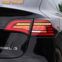 Luz trasera de luz LED trasera de coche para Tesla Model 3, lámpara de marcha atrás, señal de giro dinámica, 2016 - 2021