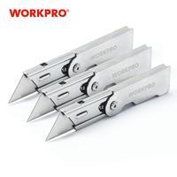Workpro 3 pc faca de dobramento utilitário conjunto de faca de aço inoxidável para caixa de corte de papel faca de lâmina de troca rápida folding utility knife knife for cutting knife set -