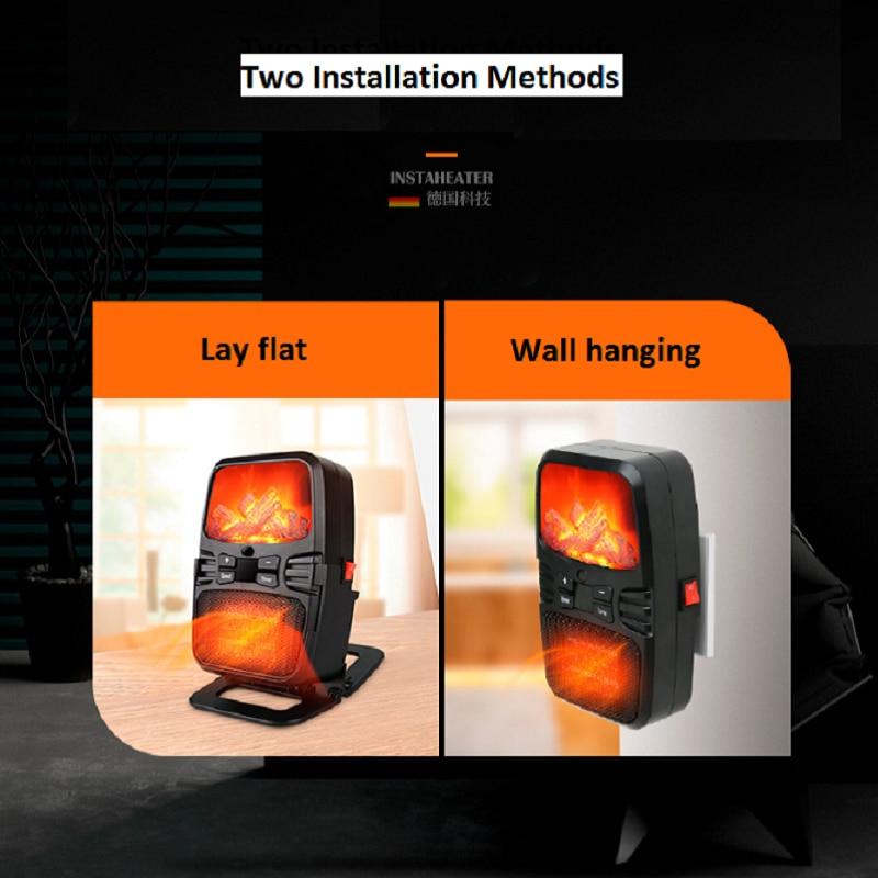 Elektrische Heizung Mini Fan Luft Heizung Gebläse Mit Fernbedienung PTC Wand Herd Tragbare Heizkörper Hause Büro Wärmer maschine