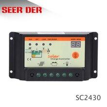 10A 15A 20A 30A 12 V/24 V regulator ładowania słonecznego, regulator słoneczny dla system paneli słonecznych w użyciu, wyświetlacz LED