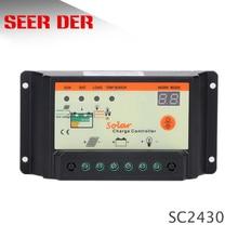 10a 15a 20a 30a 12 v/24 v controlador de carga solar, regulador solar para uso do sistema de painel solar, display de luz led