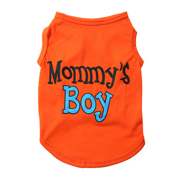 Dog Clothes Mommy's Boy Printed Pet Clothes Breathable And Comfortable Indoor Small And Medium Sized Dog Vest image