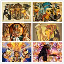 5d diy pintura diamante egípcio retrato diamante bordado ponto cruz kit arte religiosa mosaico needlework casa decoração presente