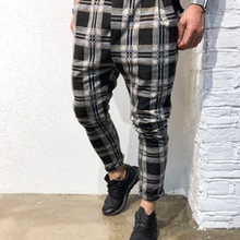 Men's Slim Personality Casual Sports Striped Pants
