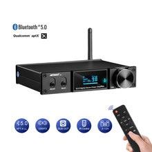 AIYIMA D05 5,0 Bluetooth amplificador de sonido 120W × 2 de alta fidelidad 2,1 Digital de canal amplificadores de potencia de Subwoofer Amp USB DAC remoto OLED APTX