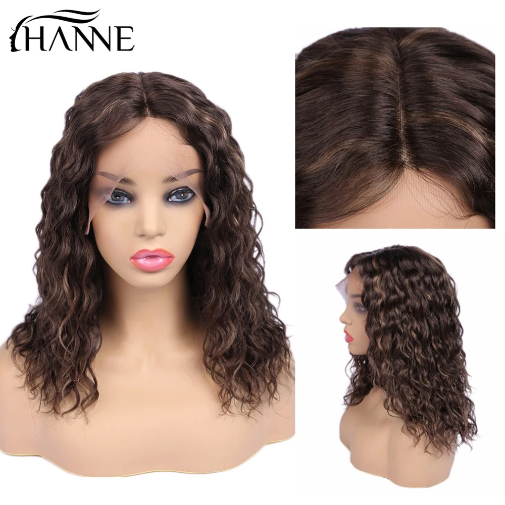 HANNE Hair Brazilian Natural Wave 150% Lace Front Human Hair Wigs Pre Plucked Remy Hair Wigs F4/30 Color
