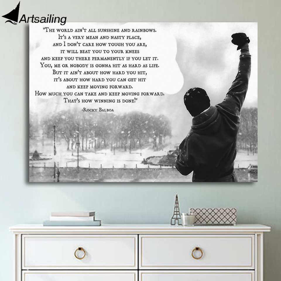 Wall Art 1 Piece motivational quotes Canvas Paintings Printed poster Home Decor Print Painting home decor