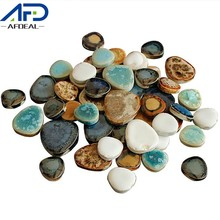 100g Ceramic Mosaic Tiles for Craft Irregular Drop Shape Mosaic Pieces Blue and White Porcelain Tile DIY Hobby Wall Home Decor